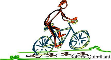 [...]Perché la bicicletta non importa dove porti,è tutto un equilibrio di periodi e di rapporti,è tutta una questione di catene e di corone,di grasso che lubrifica la vita alle persone.Come nella vita c'è una ruota che gira,una ruota che spinge e con quest'aria che tirase una ruota si fora la caduta è sicura:una toppa ripara, una ferita si cura.Non avere paura che sennò ti deconcentri, devi far coincidere i pesi e i baricentri.L'impegno di coppia per un singolo momento: due le forze in ...
