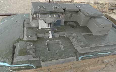 "chavin de huantar temple | Chavin De Huantar archeological ruins,"" in Chavin, Peru."