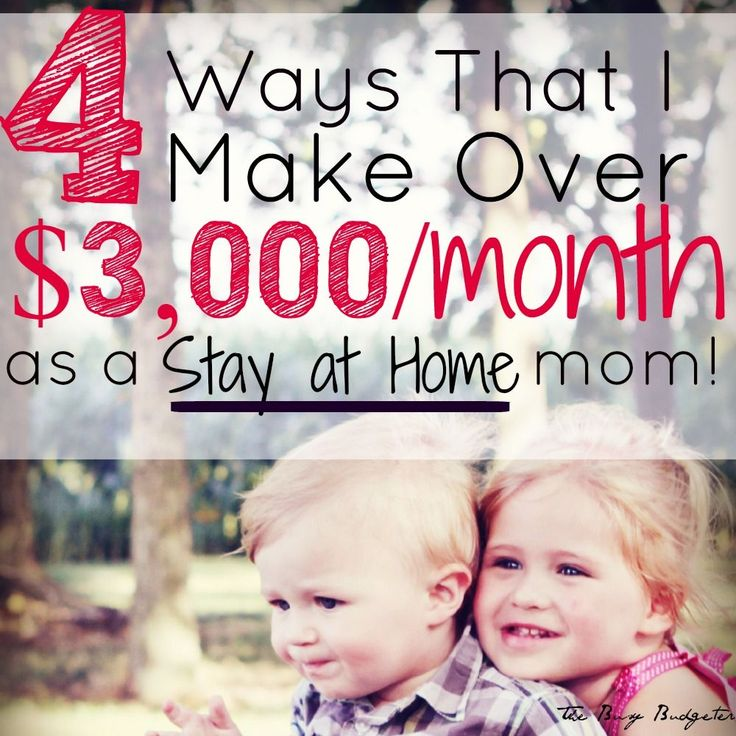 The 4 Side Jobs That Make Me Over $3,000 a Month as a Stay-at-Home Mom