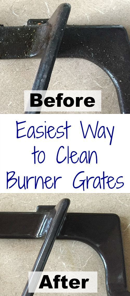 This trick to getting those stove top grates clean is so easy. Wish I'd seen this before! #cleanstove #cleaningtips
