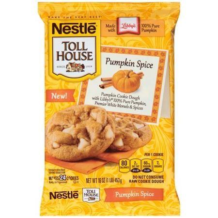 Nestle Toll House Pumpkin Spice Cookie Dough, 16 oz - Walmart.com