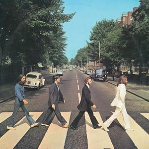 The Abbey Road album cover; courtesy of EMI/Apple.