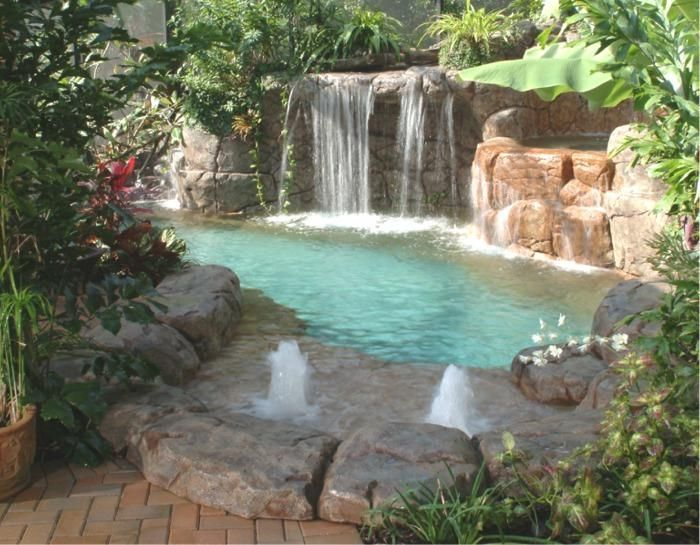 Swimming pool oasis I can hear it, feel it, now I really WANT it! :) along with a Margarita :) This would be my stay cation retreat....