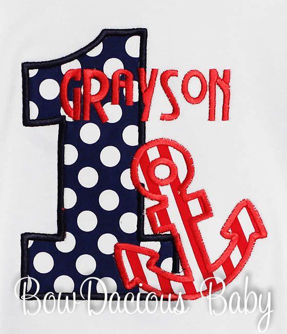 Anchor Birthday Shirt Personalized Birthday Boy by bowdaciousbaby, $18.00