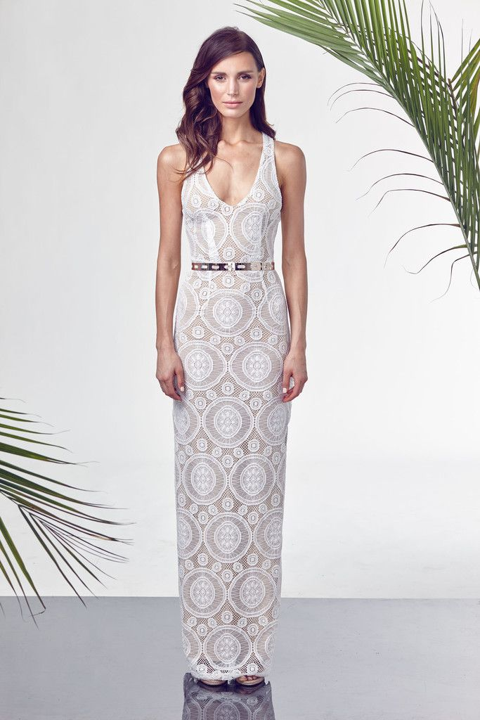 HER RING LACE MAXI DRESS