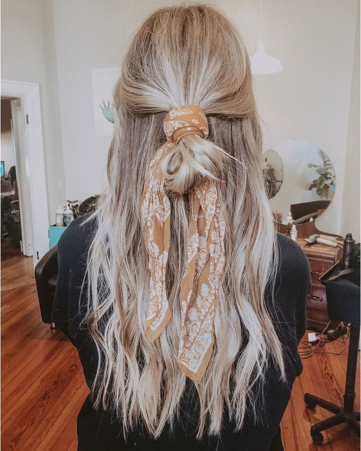 Blondes Haar für die Haarschleife – #bandana #blondes #die # für #haar #haa