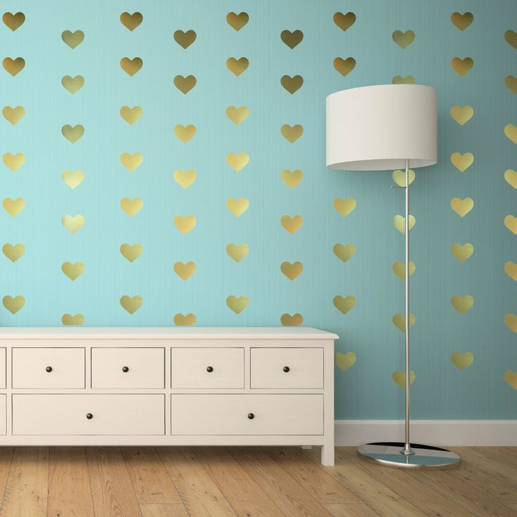 It doesnt have to be valentines day to use these adorable heart wall decals create a beautiful home decoration with the bobee gold heart wall decals
