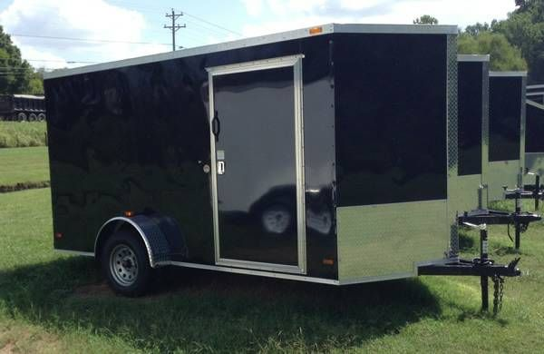 2015 new 6x12 vnose enclosed cargo trailer ramp door 6 39 3 for 6x12 wood floor trailer