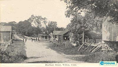 Wilton postcard post card - Hurlbutt Street, Wilton, CT