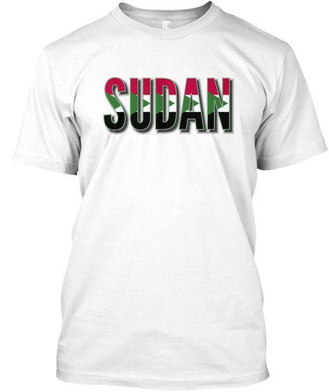Sudan flag font Tshirt