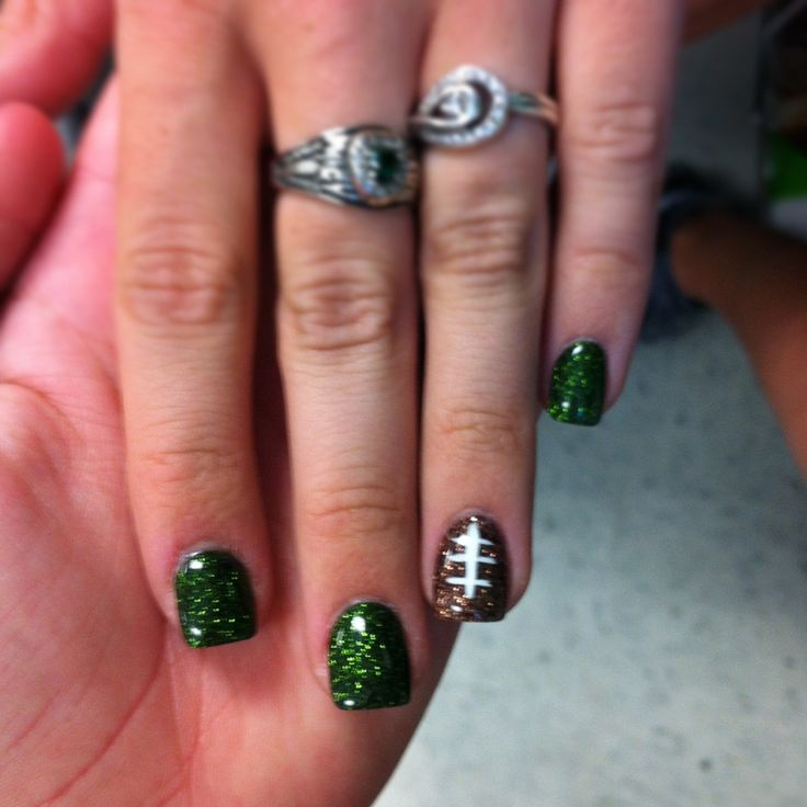 Football nails maybe with black or blue nails for the