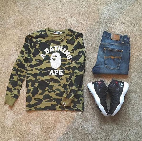 #bape #sweatshirt #nudiejeans #jordan11 #72-10