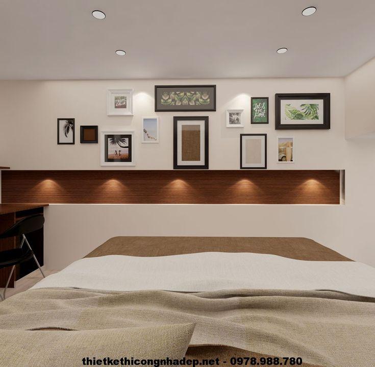 Phòng ngủ nhà cấp 4 gác lửng NDNC413