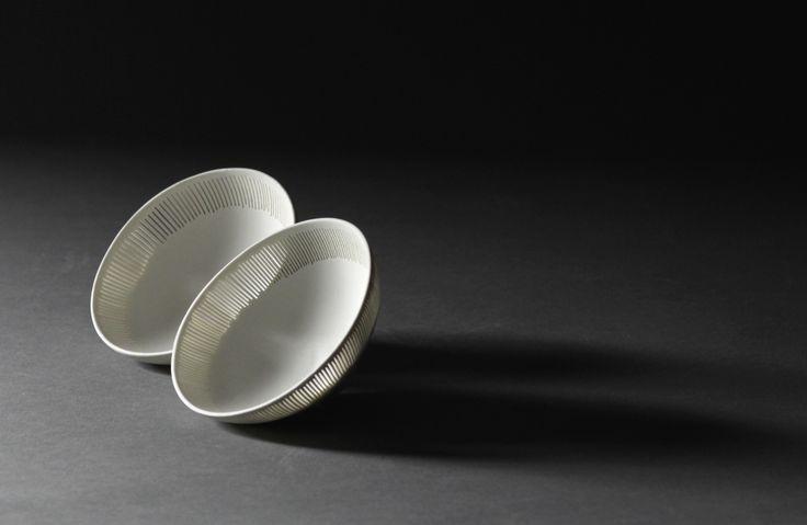 smal perforated porcelain bowls by Linda Prüfer