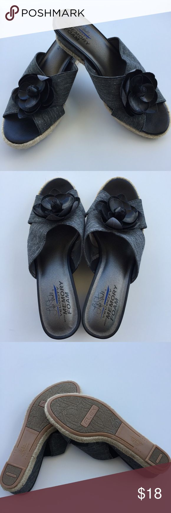 💞Sale💞Life Stride Wedge Sandals 👇PLZ READ THE COMPLETE DESCRIPTION BEFORE COMMENTING! Thank u!👇  Brand new, never worn, no shoe box Size:8W With memory foam Color may be slightly different bcz of lighting  🍀Price is FIRM unless bundled🍀 ❌Trades ❌Holds All sales r final Welcome product-related questions! Ur responsible for ur size. Life Stride Shoes Sandals