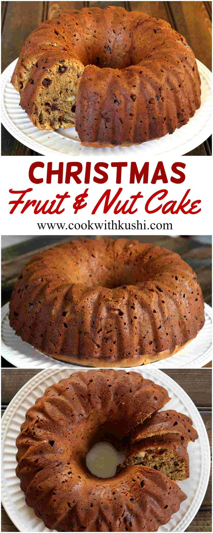 Christmas Fruit and Nut Cake is a super delicious cake, loaded with dry fruits and nuts that will be loved by people of all age groups. #buzzfeedfood #bhgfood #feedfeed #christmas #holiday #thanksgiving #cake #dessert #wine #recipe #bake #festival