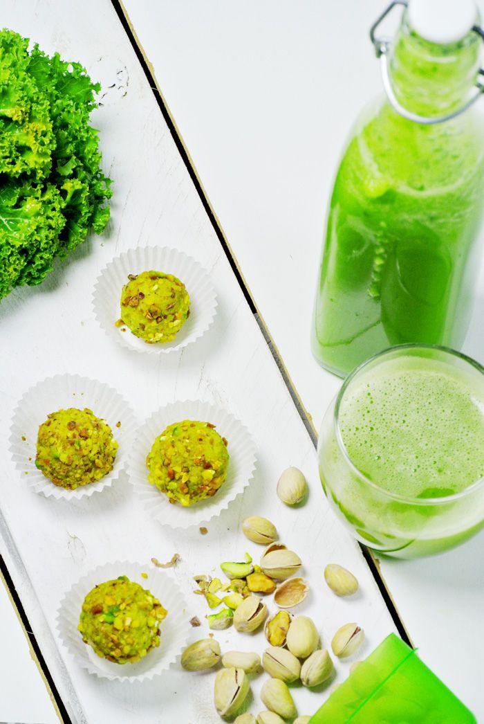 Stylowo i Zdrowo: Zielone pralinki bez cukru jarmużowo-pomarańczowe