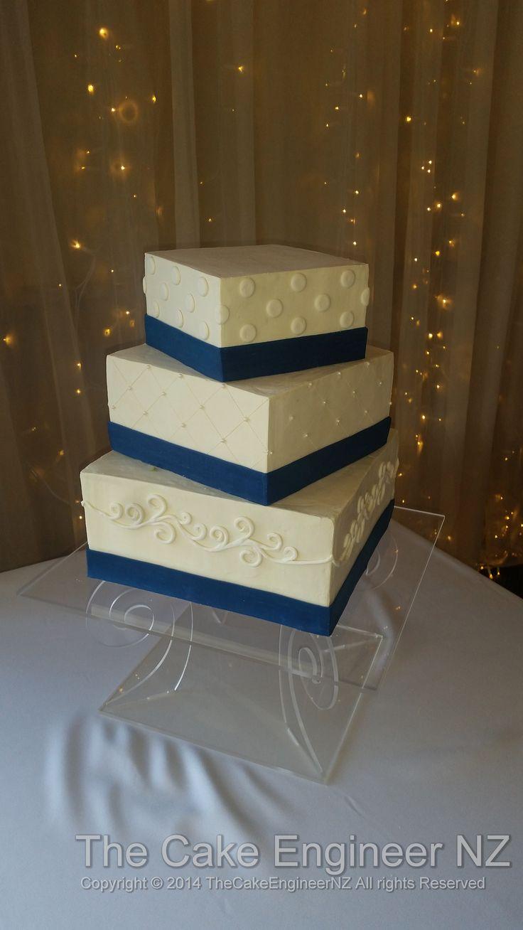 Summer wedding cakes white ganache and modelling chocolate