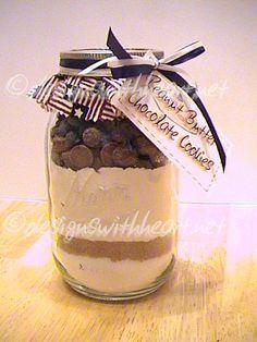 Peanut Butter Chocolate Cookies In A Jar