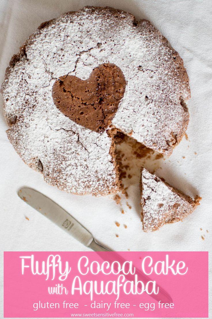 Fluffy gluten free vegan cocoa cake, made with aquafaba! --- Torta soffice al cacao senza glutine e vegana con aquafaba, ossia il liquido di cottura dei legumi, montato a neve! --- #glutenfree #chocolate #cake #aquafaba #torta #senzaglutine