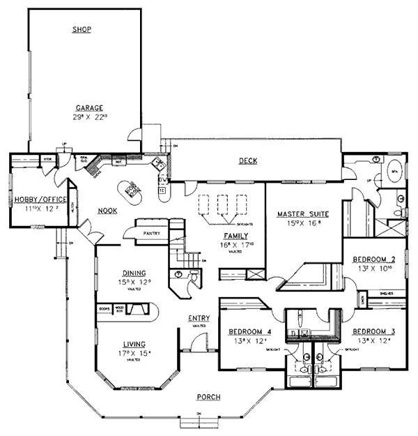 Garage Plans Blueprints 26 X 36 3 Car Traditional: 62 Best Multi-generational Home Plans Images On Pinterest