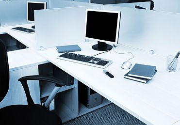 Great idea for workspace privacy... Acrylic dividers.