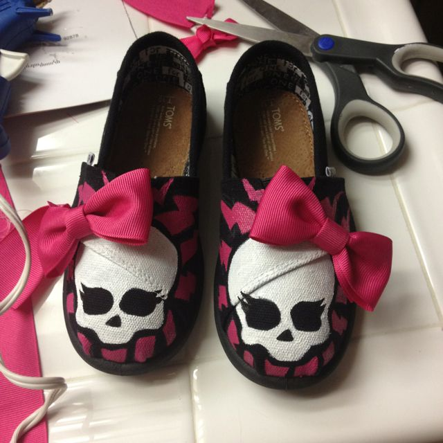 Monster High TOMS for my niece.