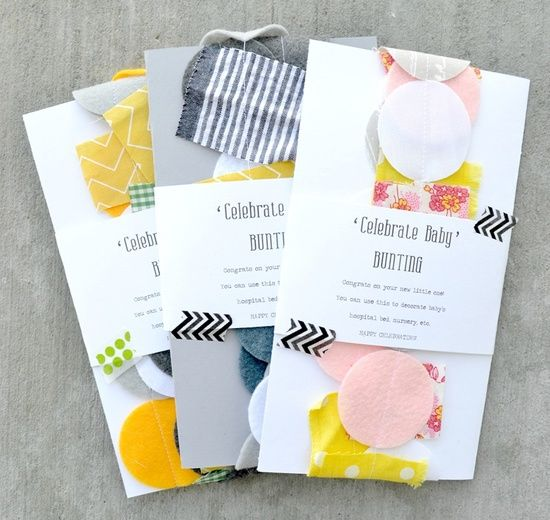DIY Baby Gift Ideas: Celebrate Baby Bunting by A Lemon Squeezy Home via lilblueboo.com