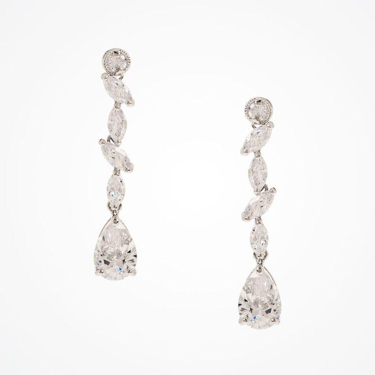 Andorra cubic zirconia drop earrings