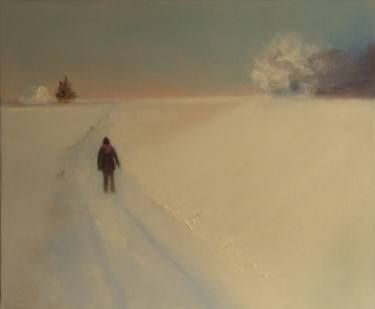 "Saatchi Art Artist Marta Zamarska; Painting, ""Winter Impression 5"" #art"