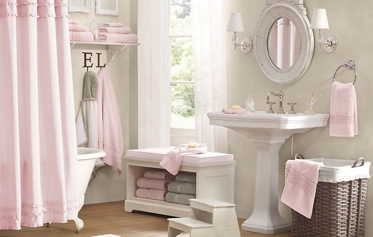 This is way too nice for a kid's bathroom!  It wouldn't look like this for long!  I want that tub.