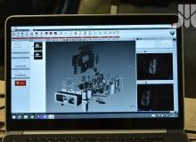 The 3D scanner allows for a comprehensive measurement of samples and prototype models.