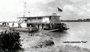 "Barge gunboat ""Tete"", operating in Mozambique."