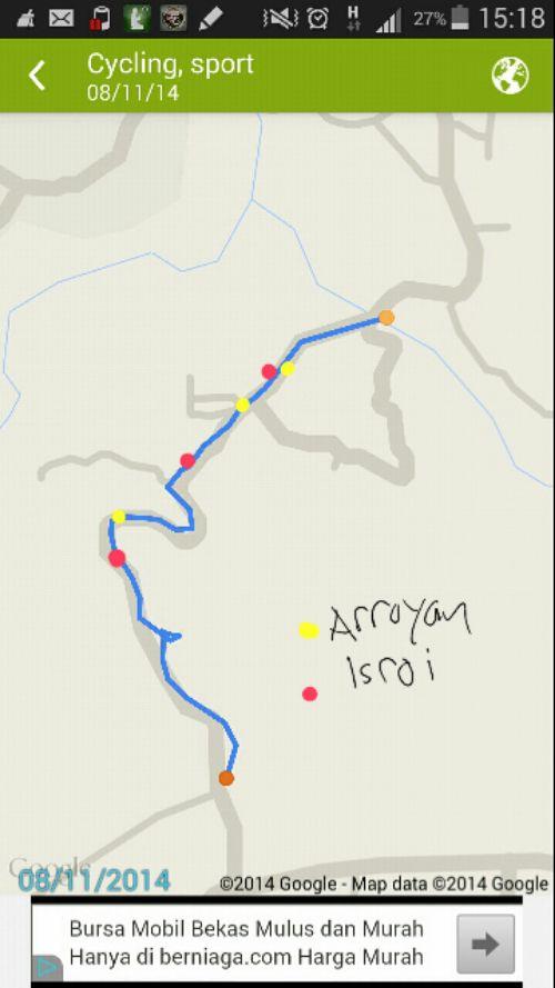 Route uphill di tanjakan Ciengkek Ciomas