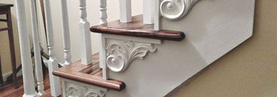Gorgeous decorative stair brackets