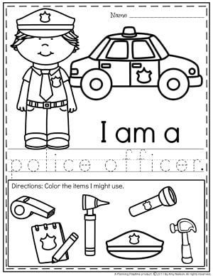 Community Helpers Worksheets - Police Officer   Community Policing ...