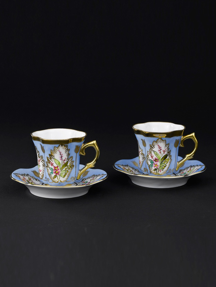 Handpainted Turkish Coffee cups - Paşabahçe