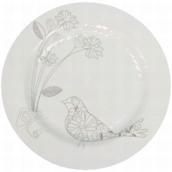 masterpiece floral bird plates white masterpiece china like dinnerware