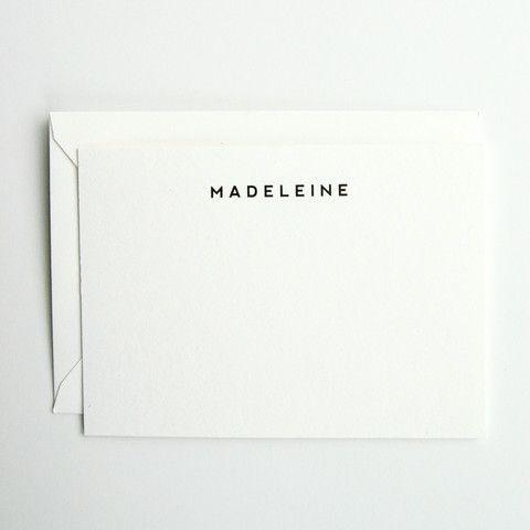 Madeleine - Personalized Stationery Set