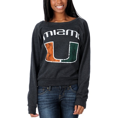 U Of Miami Hurricanes Girls College Football Sweatshirt