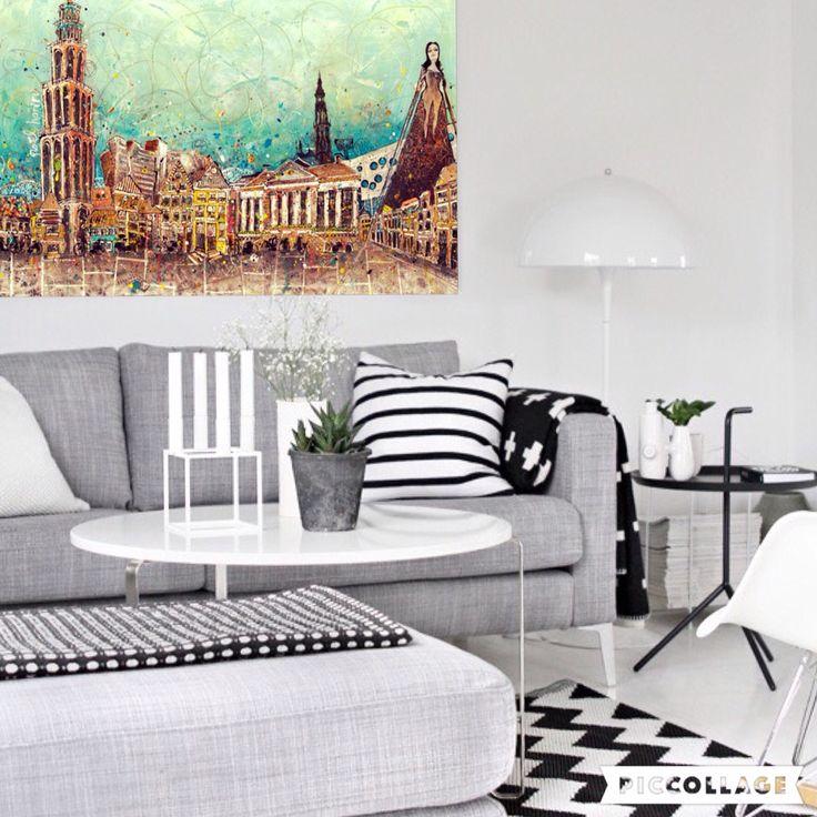 Painting 'Groningen vroeger&nu' by artnoel.nl info@artnoel.nl Noel Hariri #paintingmixedmedia#giclee#kunst#art#holland#nederland#iloveholland#groningen#love#art#Artnoel#noelhariri#dutch#vtwonen#fun