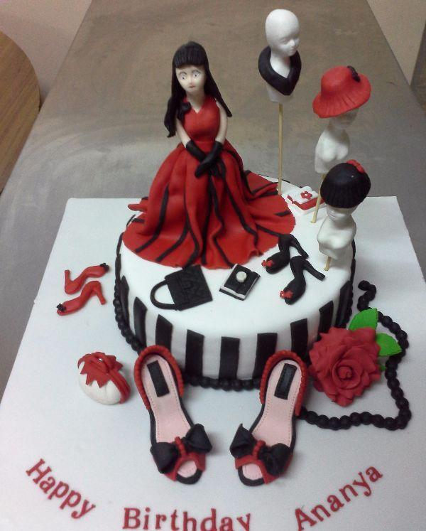 Ananya Fashion Designer Birthday Cake In 2020 Cakes For Teenagers Online Birthday Cake Cakes For Women