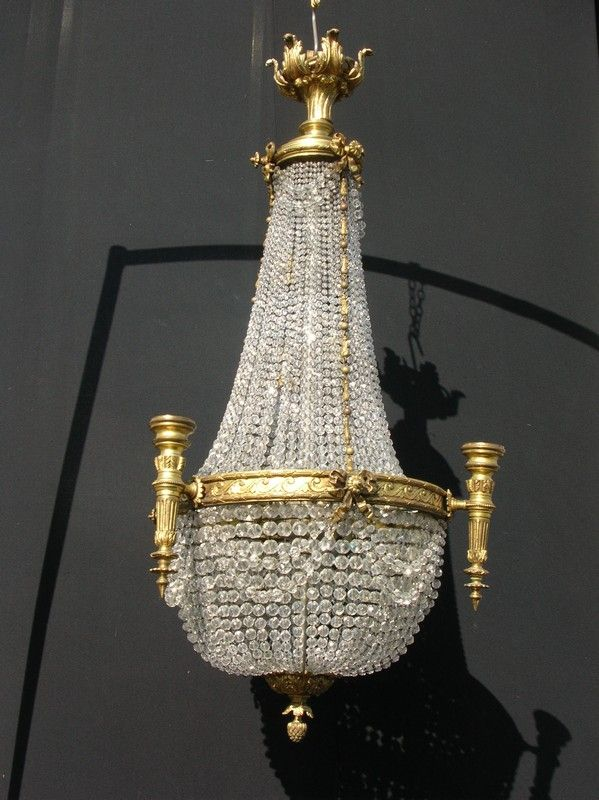 bagu dor crystal chandelier antique and bronze bague s at dore french for sale