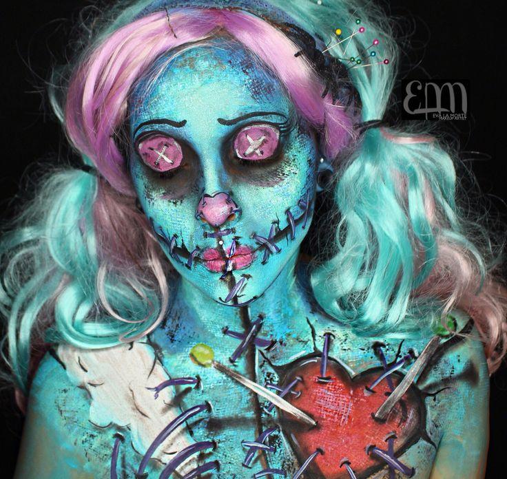 Rag doll. Voodoo doll makeup. Voodoo doll. Mua: Eva.lamorte