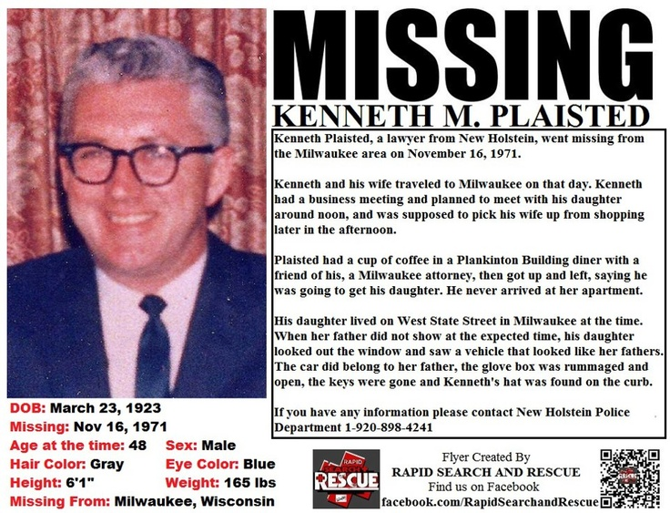 7 best WI Missing Persons 1970s images on Pinterest Amber alert - missing person flyer template