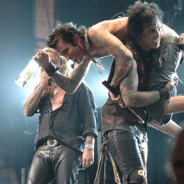 Vince Neil, Tommy Lee, and Nikki Sixx Mötley Crüe