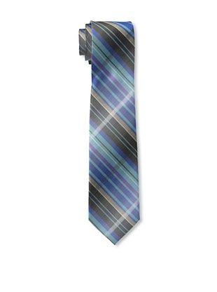 65% OFF Ben Sherman Men's Large Shaded Grid Tie, Blue