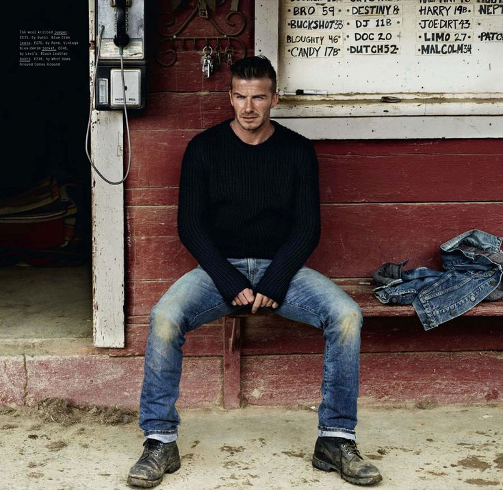 Style Pantry | Editorial Spread: A Grunge David Beckham. Love the black