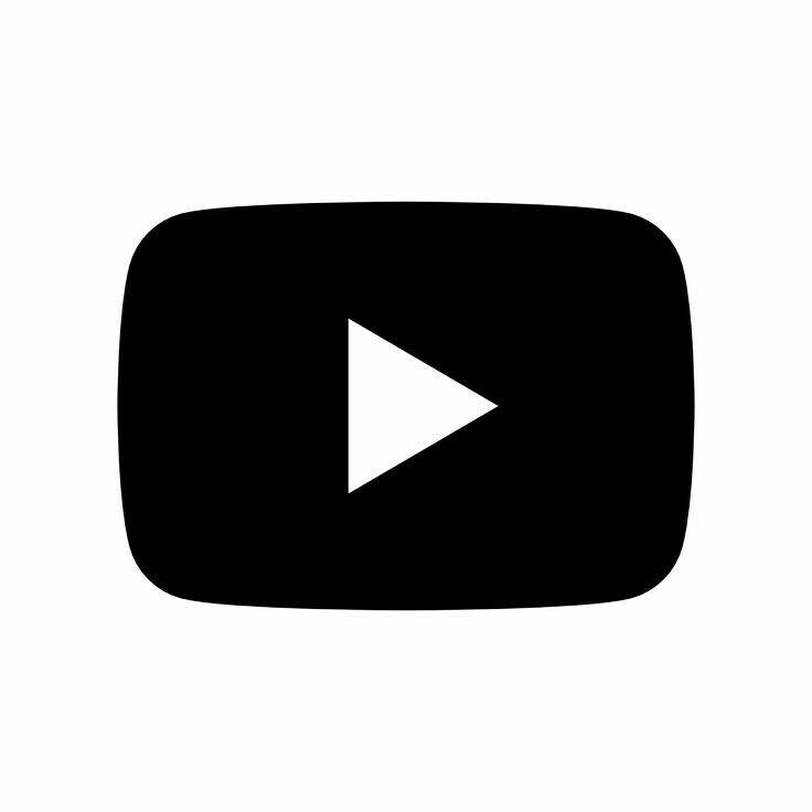 YouTube black logo icon | Black and white instagram, Youtube logo, App icon