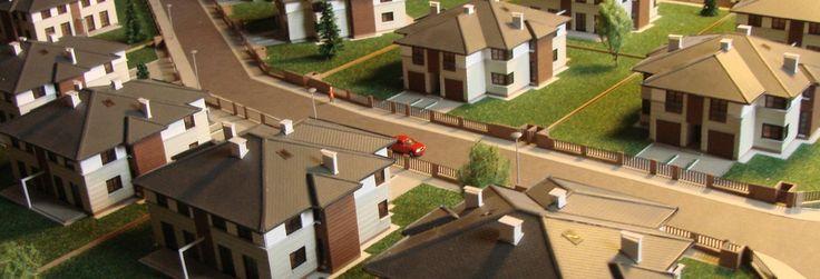 Makieta domów jednorodzinnych